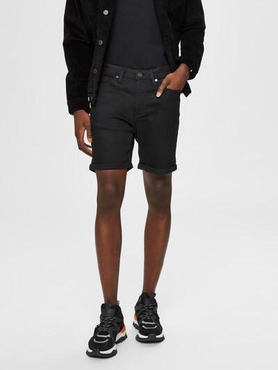 SELECTED HOMME Jeansshorts 'SLHALEX 329' in schwarz, Modelansicht