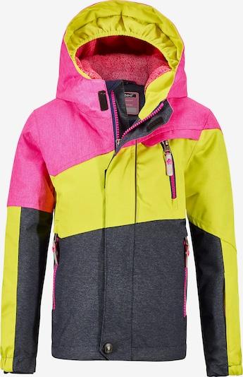 KILLTEC Skijacke 'Viewy' in gelb / dunkelgrau / pink, Produktansicht
