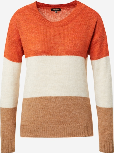 MORE & MORE Pullover in ecru / karamell / orange, Produktansicht