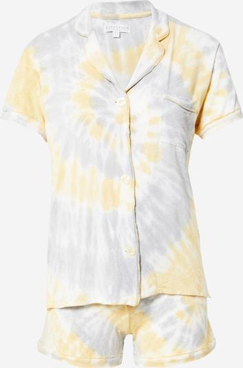 PJ Salvage Pyjama in de kleur Geel / Grijs / Wit, Productweergave