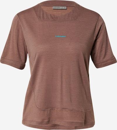 ICEBREAKER Performance Shirt 'Meteroa' in Cream / Dark brown, Item view
