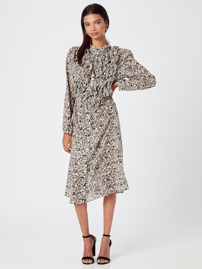 Rochie tip bluză SAINT TROPEZ pe bej / negru, Vizualizare model