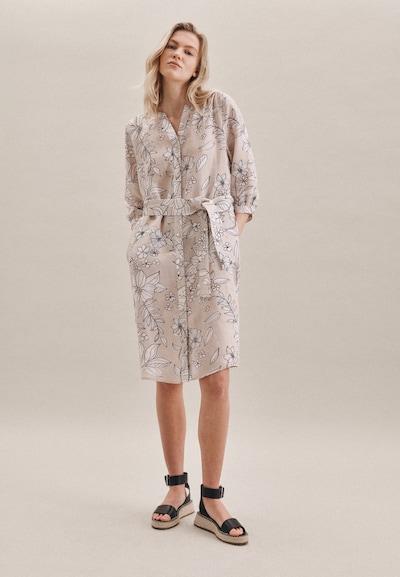 SEIDENSTICKER Kleid 'Schwarze Rose' in beige / weiß, Modelansicht