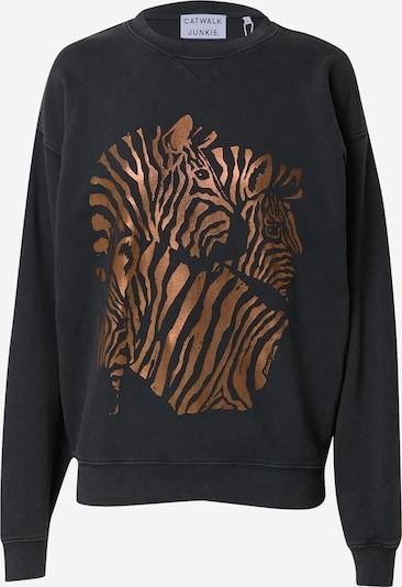 CATWALK JUNKIE Sweatshirt 'ZEBRA' in bronze / dunkelgrau, Produktansicht