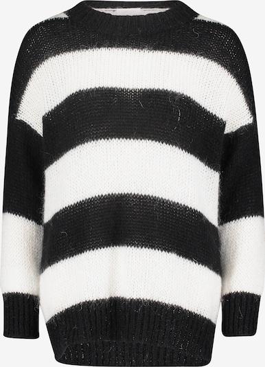 Cartoon Pullover in schwarz / weiß, Produktansicht