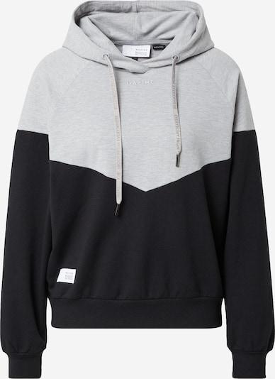 mazine Sweatshirt  'Olbia' in hellgrau / schwarz, Produktansicht