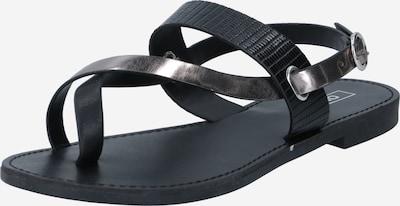 ONLY Sandale 'MELLY' in schwarz / silber, Produktansicht