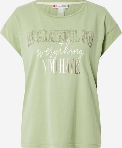 STREET ONE T-Shirt in gold / hellgrün / weiß, Produktansicht