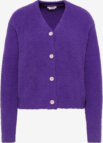 MYMO Knit Cardigan in Purple