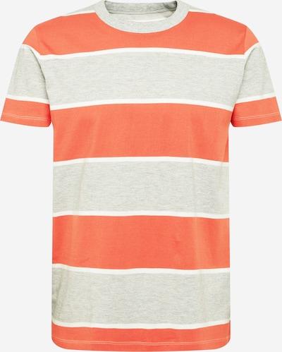 EDC BY ESPRIT T-Shirt in graumeliert / koralle / weiß, Produktansicht