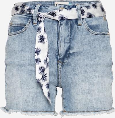 FREEMAN T. PORTER Jeans 'Coleen' in de kleur Blauw denim / Wit, Productweergave
