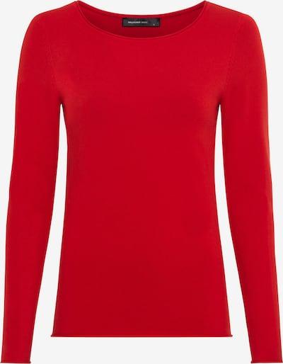 HALLHUBER Basic-Pullover mit Rollkanten in rot, Produktansicht