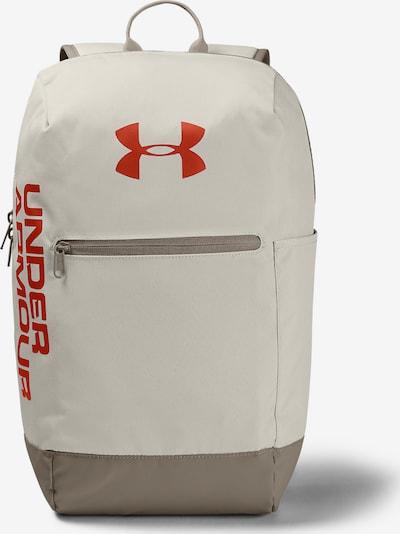 UNDER ARMOUR Rucksack 'Patterson' in grau / rot / weiß, Produktansicht