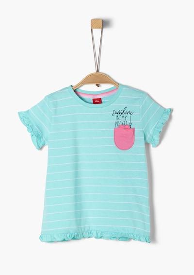 s.Oliver Shirt in türkis / pink / schwarz / weiß, Produktansicht