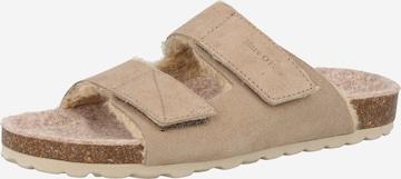 Papuci de casă 'Bella' de la Marc O'Polo pe bej