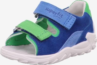 SUPERFIT Zapatos abiertos 'FLOW' en azul / verde, Vista del producto