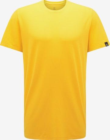 T-Shirt fonctionnel 'Träd' Haglöfs en jaune