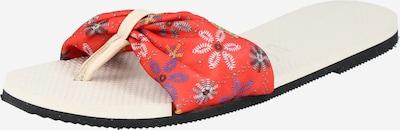 HAVAIANAS Žabky 'SAINT TROPEZ' - krémová / nebeská modř / lenvandulová / pudrová / ohnivá červená, Produkt