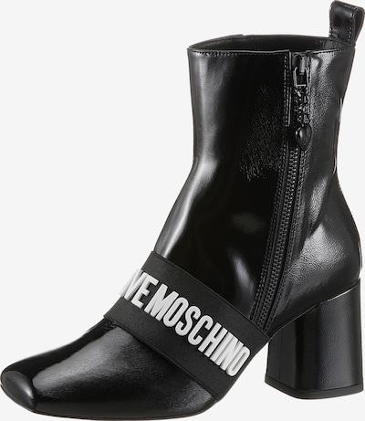 Love Moschino Stiefelette in schwarz / weiß, Produktansicht