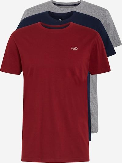 HOLLISTER Paita värissä laivastonsininen / meleerattu harmaa / burgundin punainen, Tuotenäkymä