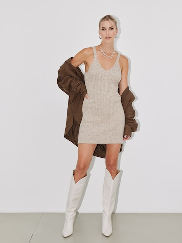LeGer by Lena Gercke Gebreide jurk 'Desiree' in Beige