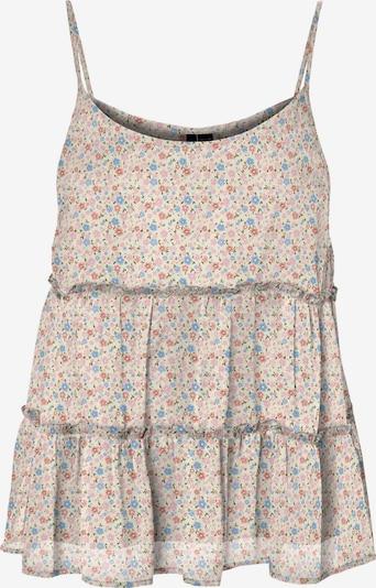 VERO MODA Bluse 'Wonda Frill' in beige / hellblau / khaki / rosé, Produktansicht