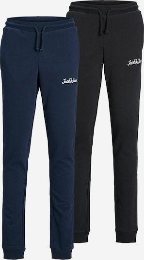 Jack & Jones Junior Pantalon en bleu / noir / blanc, Vue avec produit
