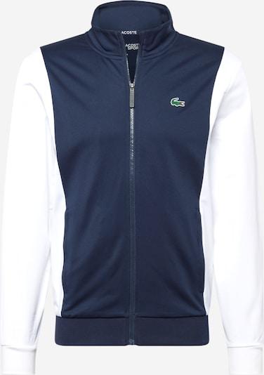 Lacoste Sport Veste de survêtement en marine / vert / blanc, Vue avec produit