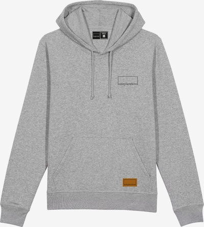 Bolzplatzkind Sweatshirt in braun / graumeliert / schwarz, Produktansicht