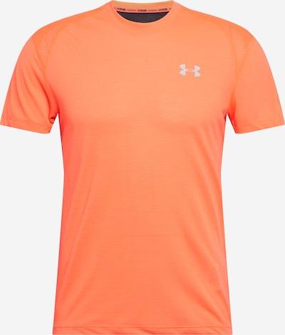 UNDER ARMOUR Funktionsskjorte 'Streaker 2.0' i lysegrå / lyseorange: Frontvisning