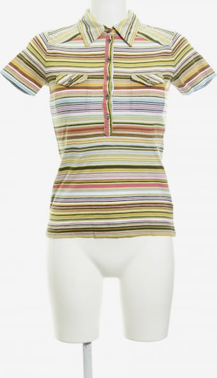 RENÉ LEZARD Polo-Shirt in XS in himmelblau / grasgrün / pink: Frontalansicht