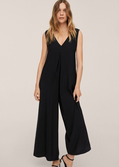 MANGO Jumpsuit 'Stu' in schwarz, Modelansicht