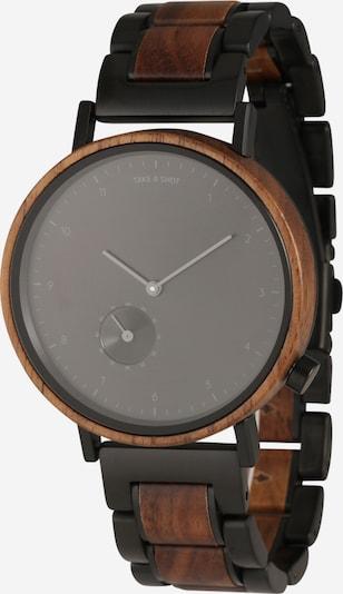TAKE A SHOT Analoog horloge 'Nelson' in de kleur Bruin / Zwart, Productweergave