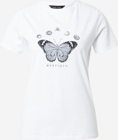 Tricou NEW LOOK pe albastru închis / alb, Vizualizare produs