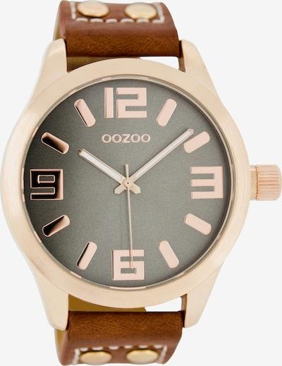 OOZOO Uhr 'C1156' in cognac / rosegold, Produktansicht