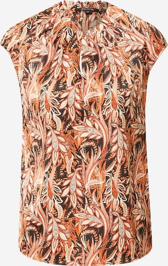 COMMA Bluse in orange / schwarz / weiß, Produktansicht
