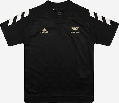 ADIDAS PERFORMANCE Koszulka funkcyjna 'Salah' w kolorze złoty / czarny / białym: Widok z przodu