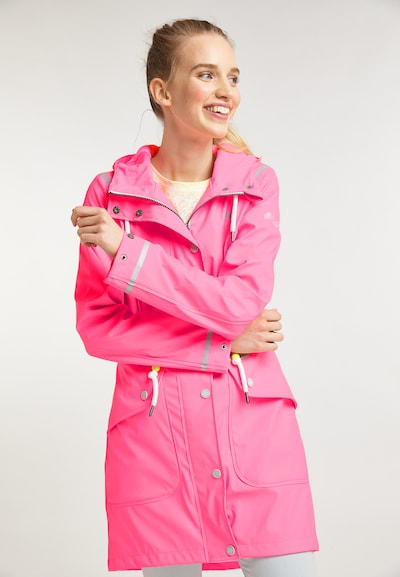 Schmuddelwedda Regenjacke in pink: Frontalansicht