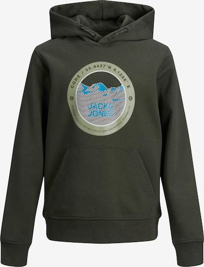 Jack & Jones Junior Sweatshirt 'Bilo' in de kleur Blauw / Grijs / Groen / Donkergroen / Wit, Productweergave