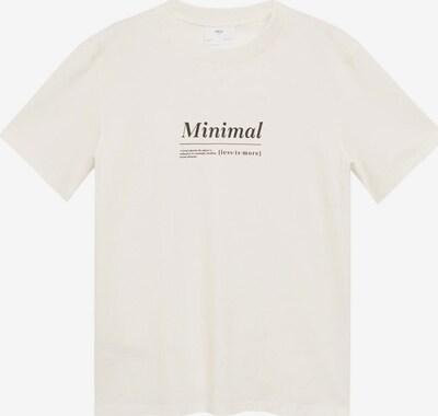 MANGO MAN T-Shirt 'ELVAS' en noir / blanc, Vue avec produit