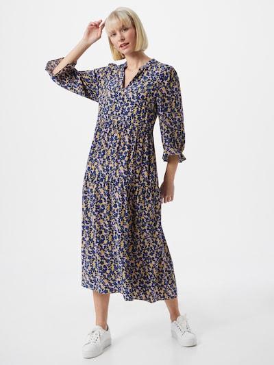 Noa Noa Kleid 'AIR' in dunkelblau / gelb / weiß, Modelansicht