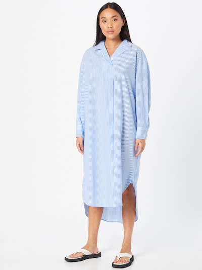 2NDDAY Kleid 'Terrazzo' in blau / weiß: Frontalansicht