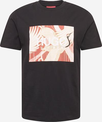 HUGO Shirt 'Dolive' in beige / creme / grenadine / schwarz, Produktansicht
