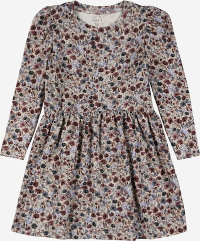 NAME IT Kleid 'BEFRIDA' in beige / himmelblau / mauve / blutrot, Produktansicht