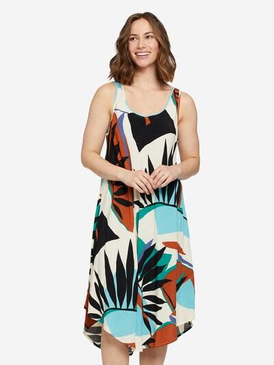 Masai Sommerkleid in hellblau / braun / grün / offwhite, Modelansicht