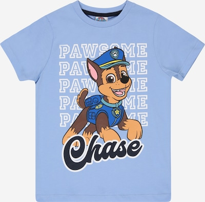 PAW Patrol Тениска в нейви синьо / опушено синьо / кафяво / бледорозово / бяло, Преглед на продукта