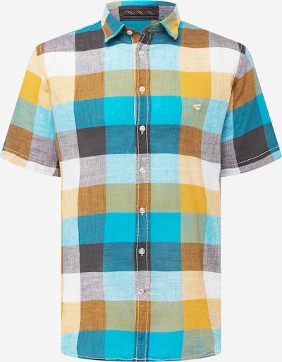 CAMEL ACTIVE Skjorta i beige / blå / ljusblå / brun / gul, Produktvy