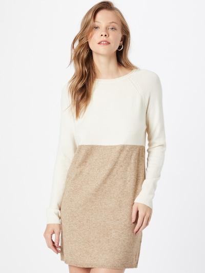 ONLY Úpletové šaty - krémová / hnědý melír / bílá, Model/ka