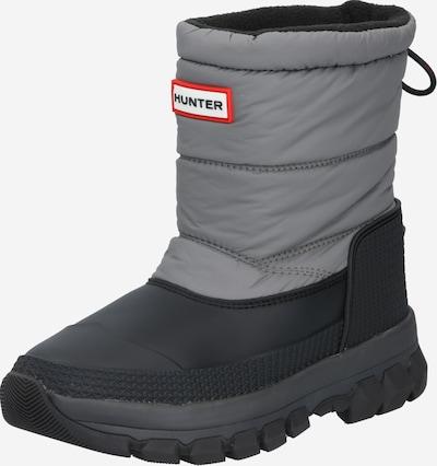 HUNTER Stiefel in grau / schwarz: Frontalansicht