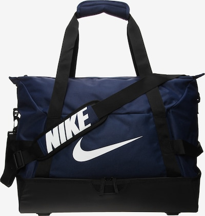 NIKE Sac de sport 'Academy Team' en bleu marine / noir / blanc, Vue avec produit
